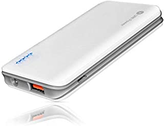 Portable Charger, 5V/2.1A 5000mAh Power Bank External Battery Backup Pack, Mini-Sized with Light Compatible with iPhone Xs/XR/X/8/7/6S/6 and More Android Smartphones (White)