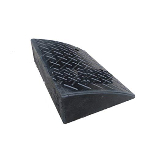 Auto accessoires Curb Ramps, 17cm Rubber Maximale overspanning Slope Pad Factory Truck Loading Ramps Startpagina Garage Threshold Ramps (Color : Black, Size : 50 * 32 * 14CM)