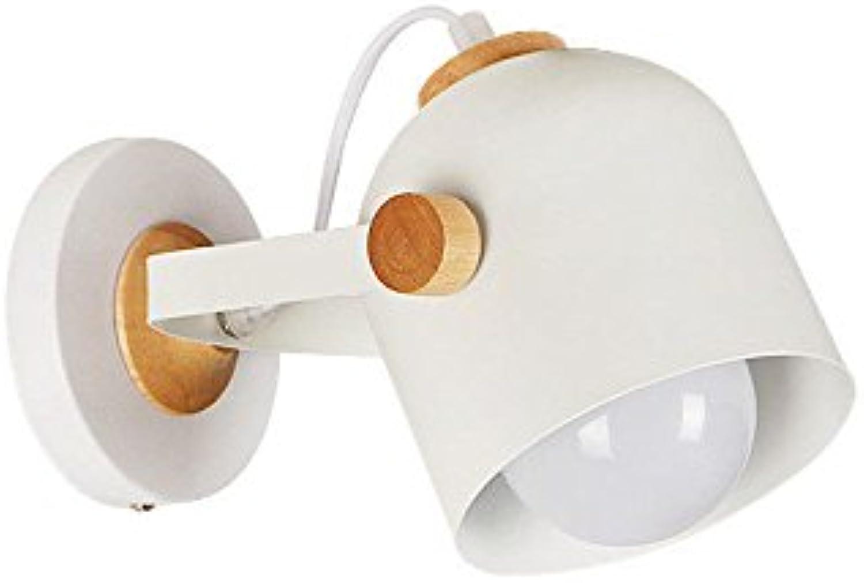 SiwuxieLamp Wandleuchte Moderner minimalistischer Massivholzschlafzimmernachtkorridor kreativ Halterung Licht