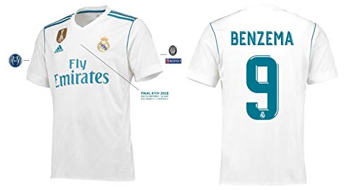 Real Madrid Trikot Herren Home UCL Final Kyiv 2018 - Benzema 9 (L)