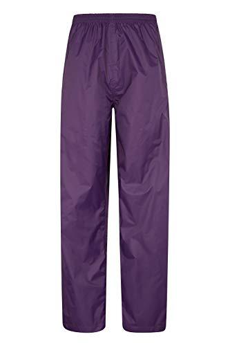 Mountain Warehouse Protectores Impermeables para Mujeres Pakka - de Packaway, Pantalones de la Lluvia de Breathable, Pantalones de Las señoras