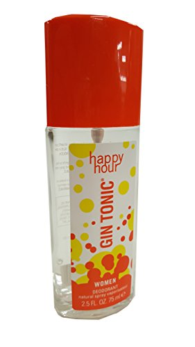 Gin Tonic Happy Hour 75 ml Deodorant Spray in Glasflasche