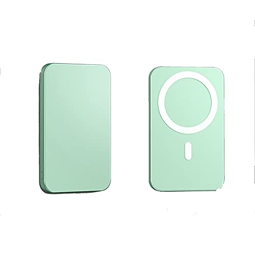 uerdand 10000mAh Banco de Potencia inalámbrico magnético 15W Teléfono móvil Cargador rápido Batería Auxiliar Externa (Color : 10000mAh, Plug Type : Blauw)