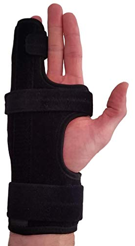 Metacarpal Finger Splint Hand Brace – Hand Brace & Metacarpal Support for Broken Fingers, Wrist & Hand Injuries or Little Finger Fracture(Right - Small/Med)
