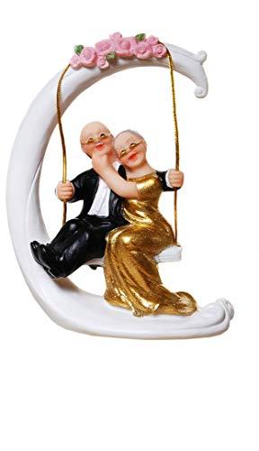 Goldpaar Goldhochzeitspaar 50.Hochzeitstag Goldene Hochzeit Goldenes Hochzeitspaar Goldenes Brautpaar Tischschmuck Hochzeitsschmuck Hochzeitsdeko Hochzeitsgastgeschenk Tortenfigur Tortenaufsatz