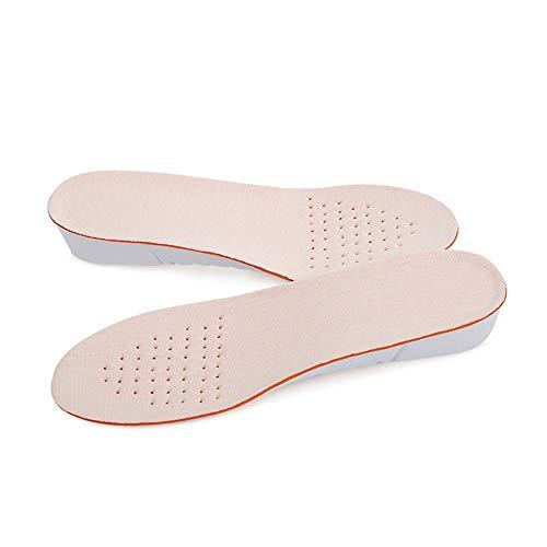 Plantillas Para Zapatos Desodorante Suela Plantilla de aumento de altura de 1 par Plantillas transpirables de zapato alto completo Inserciones Almohadillas de cojín Kits de elevación Plantillas de ele