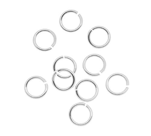 20pcs Genuine Sterling Silver Open Jump Rings 4mm (0.16 inch) Small Connector (Wire ~ 0.6mm / 22 Gauge/ 0.024 Inch) for Jewelry Craft Making SS75-4