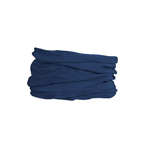 GripGrab Unisex multifunktionell termisk merinoull halsvärmare cykling löpning andas ansiktsmask cykel tub halsduk, marinblå, en storlek (54-63 cm/21-25 tum huvudomkrets)