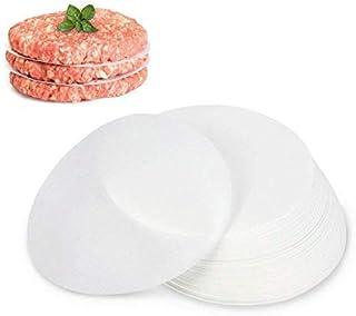 GWHOLE Hamburger Patty Paper, 500 Pack of Restaurant-Grade Non-Stick Burger Press Wax Paper Liner Hamburger Patty Paper Ro...