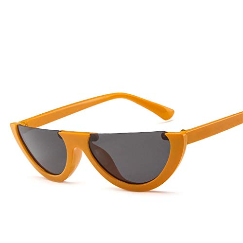 ShZyywrl Gafas De Sol Gafas De Sol DeMedia Montura paraMujer, Gafas DeModaRetro,Naranja, Gris
