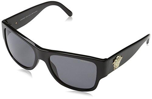 Versace Herren VE4275 Sonnenbrille, Schwarz (Black GB1/81), One size (Herstellergröße: 58)