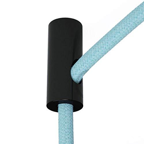 Sujeta cables color negro para techo con prisionero - Accesorios para lámparas