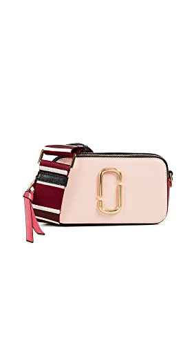 Marc Jacobs Women's Snapshot Camera Bag, Rose, Pink, Stripe, One Size