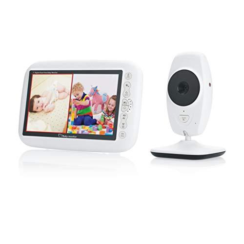 Monitor De Bebé Pantalla LCD De 7 Pulgadas Voz Bidireccional Visión Nocturna Detección De Temperatura Canción De Cuna