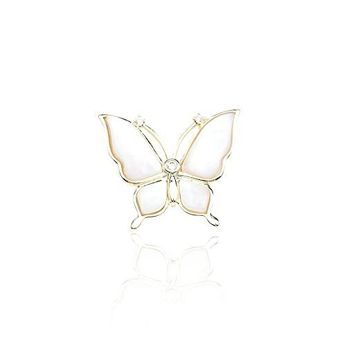 YYUKCDOG Lujo Ligero Y Compacto Mini Mariposa Fritillary Natural Exquisito Broche Simple Y Moderno Broche Anti-vacío para Mujer Regalo De Boda De Cumpleaños