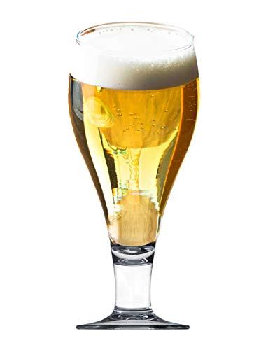 Vicrila - Copas de Cerveza Bock 400 ml - Pack de 6 - Cristal Templado - Apto para Microondas y Lavavajillas