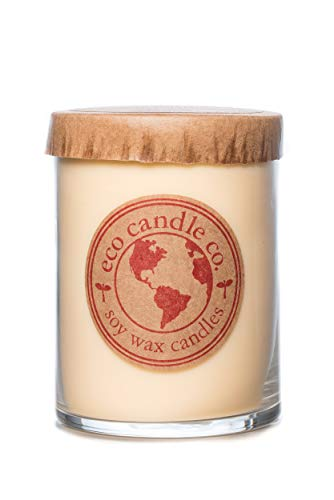Eco Candle Co. Recycled Candle, Honey Mango, 16 Oz. - 100% Soy Wax, No Lead, Kraft Paper Label & Lid, Hand Poured, Phthalate Free, Made from Midwest Grown Soybeans, All Natural Wicks