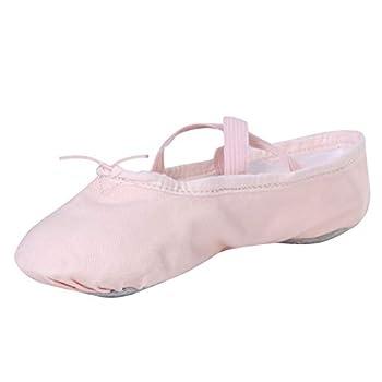 Stelle Girls Canvas Ballet Slipper/Ballet Shoe/Yoga Dance Shoe  Toddler/Little Kid/Big Kid/Women/Boy   1ML Ballet Pink