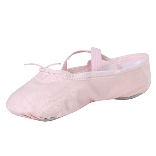 Stelle Girls Canvas Ballet Slipper/Ballet Shoe/Yoga Dance Shoe (Toddler/Little Kid/Big Kid/Women/Boy) (11ML  Ballet Pink)