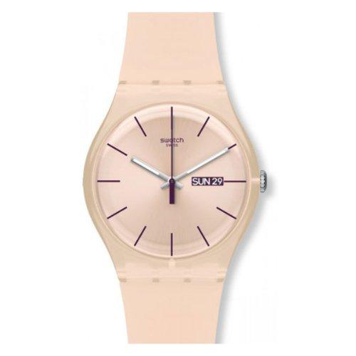 Swatch Orologio da Donna Analogico al Quarzo con Cinturino in Plastica – SUOT700