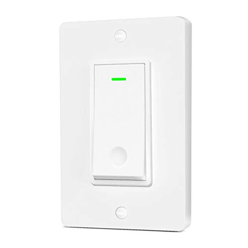 Aoycocr Smart Light Switch - Neutral Wire Required, 2.4Ghz Wi-Fi Light Switch, Works with Alexa, Google Assistant and IFTTT, Schedule, Remote Control, Single Pole, FCC Listed