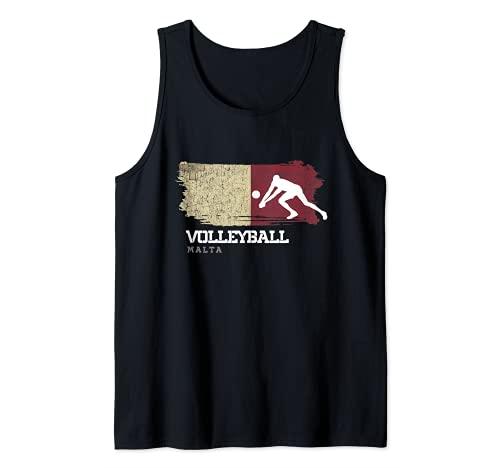 Voleibol Malta bandera equipo interior playa jugador Camiseta sin Mangas