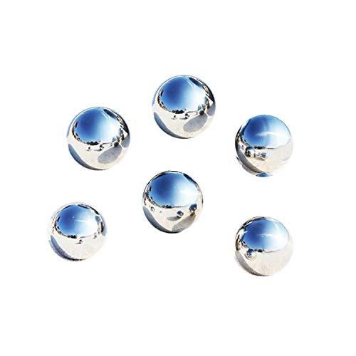 LANUCN Groß Gartenkugeln Rasen Spiegelkugel Silber Edelstahl für Partydekoration Metallgarten-Kugeln (5cm x 6pcs)