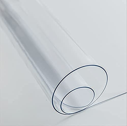 Mantel de cristal suave de PVC transparente para mesa de escritorio de 1,5 mm de grosor, resistente al agua y transparente de plástico para escritorio, protector de mesa de vinilo para comedor