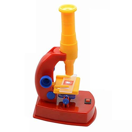 Selbstgemachte Mikroskoptechnologie Kleine Produktion Kinder Mikroskop Puzzle Lehrzubehör ABS Selbstmontage Mikroskop Experimentelle Werkzeuge für frühes Lernen A