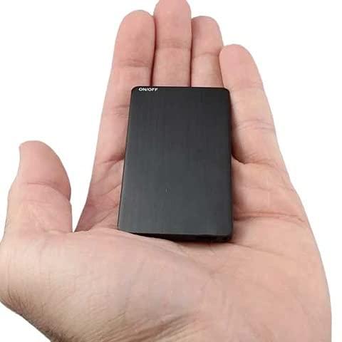 Slkon | Grabador de audio Espion de larga autonomía ultra plano 160 horas de autonomía en detección de sonido con una memoria interna de 16 GB