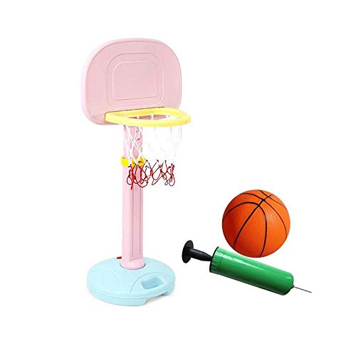Songmin Basketballkörbe Kinder Sicher Einstellbare Tragbare Basketballständer Hoop Net Set Fürs Kleinkind Kleinkind Kinderjunioren Als Pädagogisches Spielzeuggeschenk Basketball-System ( Color : B )