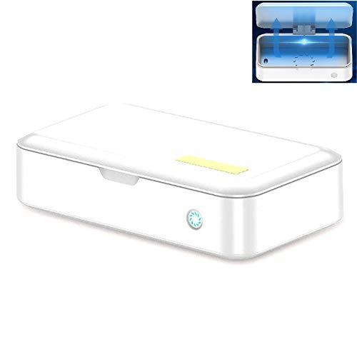 QFXFL Stérilisateur UV Box, Portable Masque Automatique UV Stérilisateur Brosse À Dents Visage Désinfection Boîte XD64