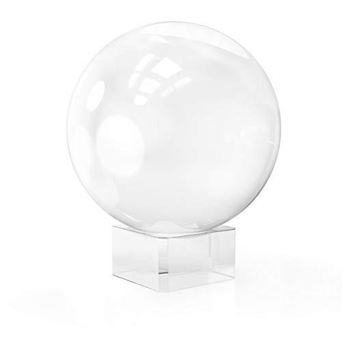 Boule pour la Photographie avec Support et Bo/îte Boule de Verre pour la D/écoration la Gu/érison et la Divination Boule en Cristal K9 pour la M/éditation Boule de Cristal 80mm