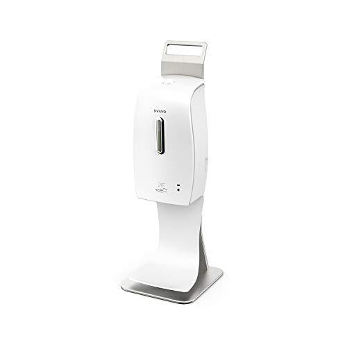 SVAVO - Dispenser con Stazione a spruzzo Senza Tocco 600 ml, Stazione Dispenser Automatico per disinfettante Mani, Pompa a spruzzo igienizzante per Uso Domestico e Commerciale in pubblico- Bianco