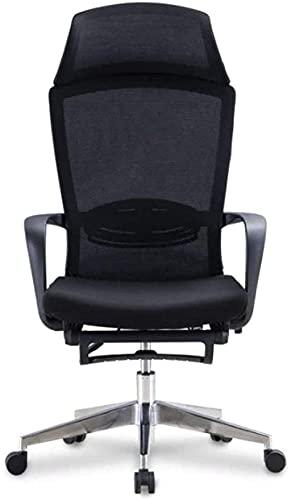 Silla ergonómica de ordenador con trípode para el hogar, silla giratoria de malla, gris, negro, color: gris (color: gris) sillón (color: negro)