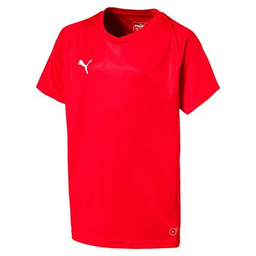 PUMA Liga Jersey Core Jr T-Shirt, Unisex niños, Red White, 140