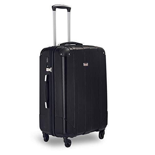 Juego Maletas Set de Maletas Maleta De Equipaje Maletas Premium con Candado TSA Equipaje De Mano Carcasa De ABS Bolsa De Viaje Viaje De Negocios Ligero Fácil De Llevar, L-66CM Negro
