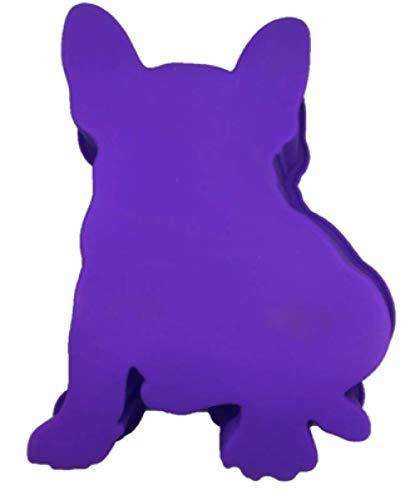 French Bulldog Boston Terrier Dog Birthday Cake Pan Silicone Purple Large for Petaversary (TM)