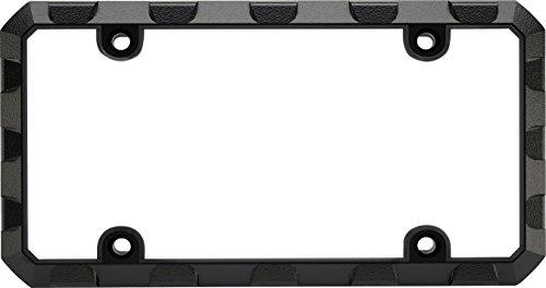 Custom Frames 92572 Black Heavy Duty Metal License Plate Frame (Truck Tuff)