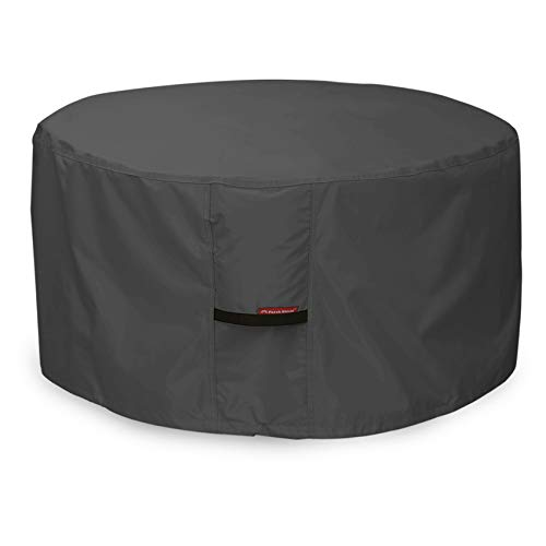 Porch Shield Fire Pit Cover - Waterproof 600D Heavy Duty Round Patio Fire Bowl Cover Black - 44 inch