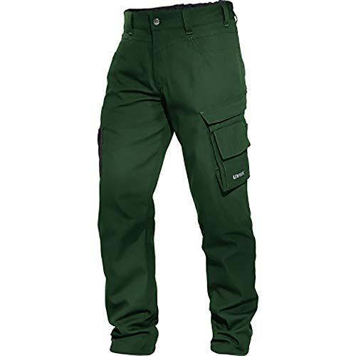 Uvex Perfexxion werkbroek - werkbroek met kniebeschermers zakken - groen - maat 58