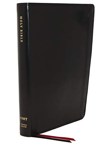 NET Bible, Thinline Large Print, Leathersoft, Black, Comfort Print: Holy Bible
