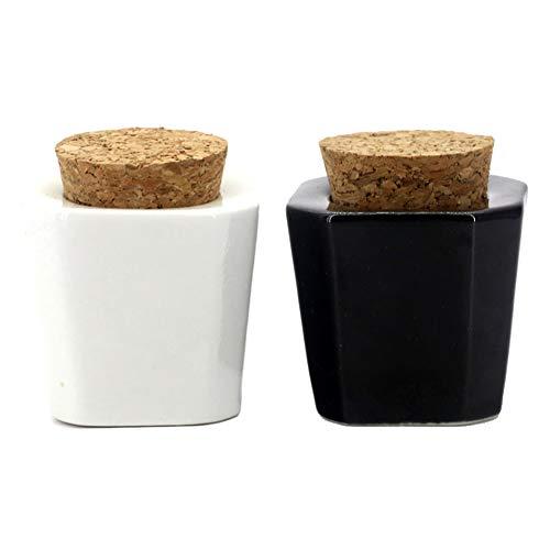 2 Pieces Porcelain Material Dappen Dish with Soft Wooden Cap Nail Art Acrylic Powder Nail Art Tools Porcelain Cup Porcelain Dappen Cup Nail Art Acrylic Liquid Powder Dappen Dish, Trapezoidal-Cone