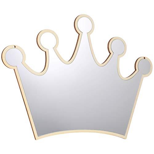 VICASKY Espejo adhesivo de pared con forma de corona real, extraíble, para habitación de bebé, decoración para la cara, para adultos y niños