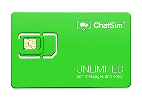 International SIM Card for unlimited chatting con WhatsApp, Messenger, y otras aplicaciones para chat – ChatSim – cobertura en 165 Países, roaming global. 30 días incluidos