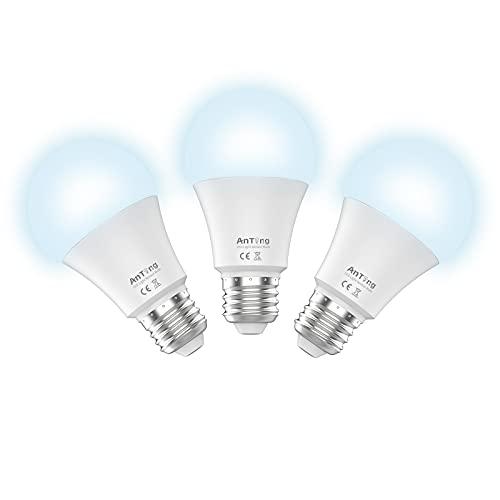 Motion Sensor Light Bulbs 12W(100W Equivalent) E26 Base, ANTING A19 Indoor Outdoor Dusk to Dawn Security LED Bulb Radar Motion Activated Lights,1000 Lumen,30000 Hrs Lifetime,5000K Cold White, 3pcs