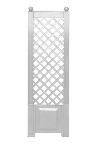 KHW 37801 Spalier 43 cm mit Erdspießen, weiß