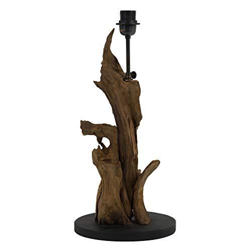 Light & Living Lampenfuss Ø25x50 cm IKAL Holz naturel braun für E27 Leuchtmittel für Wohnzimmer Esszimmer Schlafzimmer usw.