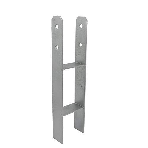 GeZu Impex® H-Anker 71 x 400 mm Pfostenträger Pfostenschuh Pfostenanker H-Form