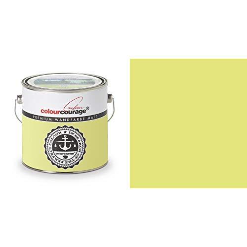 2,5 Liter Colourcourage Premium Wandfarbe Bergamot Squeeze Gelb Grün | L719778603 | geruchslos | tropf- und spritzgehemmt